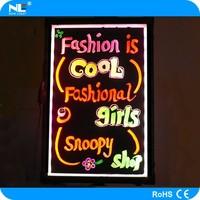 hot sale Shenzhen acrylic led menu board ,led writing board ,led advertising board for restaurants/cafes/shops