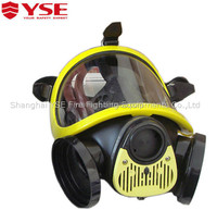 YSE EN136 Full Face Gas Fireman Breathing Mask With Double Cartridge/Filter Used For Fire Protective