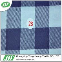 blue&white 100 cotton big size check shirting fabric TC044