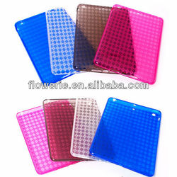FL2381 2013 Guangzhou hot selling clear grid cover case for ipad mini