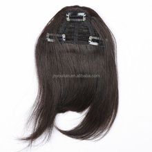 Wholesale high quality brazilian hair Clip-in hair bangs, shedding-free, 100% human hair bangs