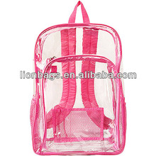 2016 HOT sale clear cheap PVC backpack waterproof rucksack