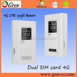 dual sim card 4G LTE FDD/TDD/UMTS dual sim slot 4G wifi hotspot with power bank