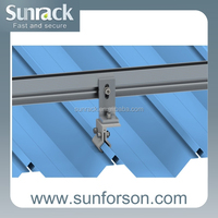 Direct factory sale solar tin roof panel mounting bracket for home