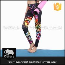 Custom design women yoga wear top with printing