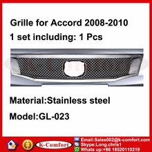KCOMFORT Steel car auto parts and accessory front grille for hond-a a-ccord grill 2008-2010