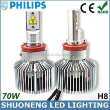 Philips New Products 4000K 5600lm 70W Adjustable Focus Length Conversion Kits H8 LED Head Light Auto