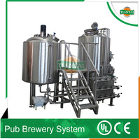 2 vessel beer brew house combination beer brewing tank for sale