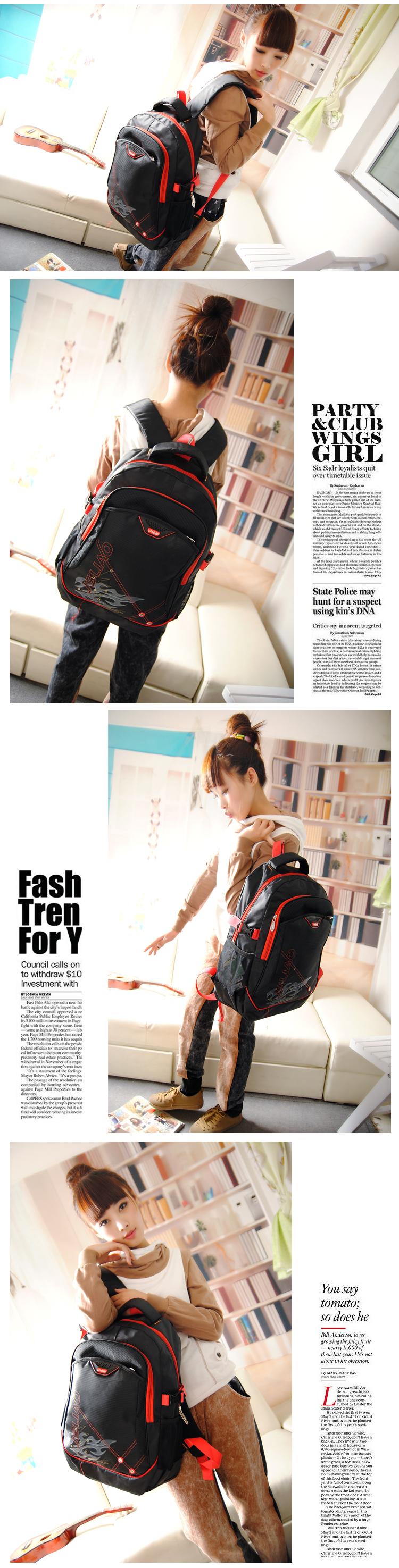 высокое качество мужчин нейлон рюкзак черный сумка сумки мода большое путешествие ноутбук сумки корейских стильные спортивные сумки