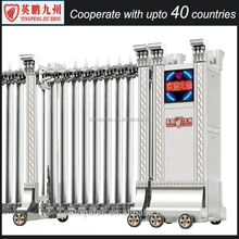 Hotel gate in foshan folding rail gates and grills design