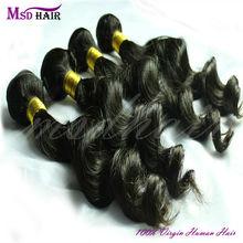 No chemical processed virgin brazilian loose wave human hair weave