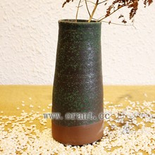 Home Decorated Flower Vase Ceramic Green Pottery Ware Hot Selling