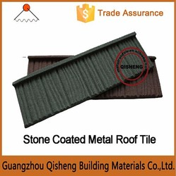 Easy Assemble Chip Coated Steel Roofing ---- Wood Stone Coated Metal Roof Tile