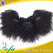 Wholesale price high quality 100% virgin human hair afro kinky curly clip in hair extensions