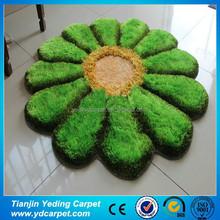 2015 3D Style Handmade Silk Flower Pattern Carpet and Rug for Living Room