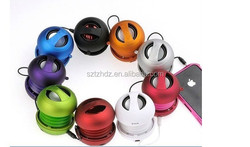 New! Mini burger Portable 3.5MM Speaker Novelty gifts retractable mobile speaker mini burger shaped speaker