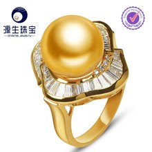 Latest unique design freshwater pearl ring designs for women