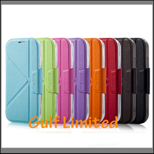 Top Quality Luxury Flip Leather Phone Case For Samsung Galaxy S4 case