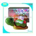 Eléctrica de plástico tortuga juguetes con la luz y la música