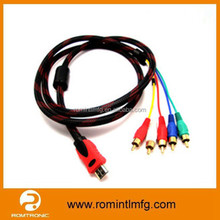 Factory Price hdmi male to 5 rca male cable,hdmi to rca cable