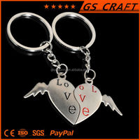 Romantic couples 2015 hot selling best wing keychain
