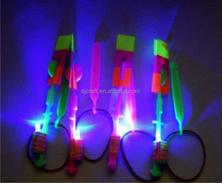 red/blue LED glow fly arrow helicopter HOT sell for kids SJ-FA01
