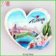 YC1017652 customised OEM design travel 3d fridge magnet for different countries