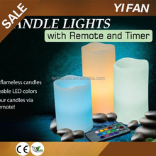 Wholesale Color Changing Ivory Remote Led Candle Light