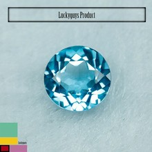 New Quality Swiss Blue Topaz Gemstone Round cut, Good quality silver jewelry Gemstone