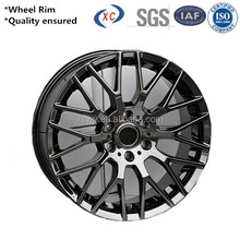 High quality steel wheel rims 16 inch red car rims