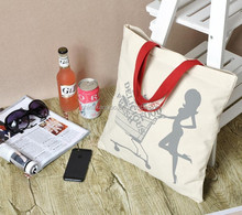 High quality product fashion canva tote shopping bag onlin shop