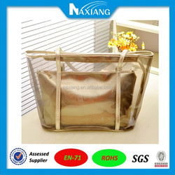 Hand Bag Girls Zipper Waterproof Plastic Bag Plastic Shopping Bag