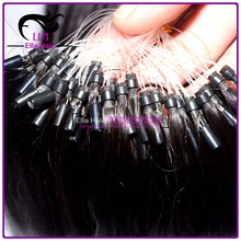 100% Remy human hair micro-ring hair extensions
