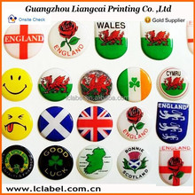 Popular printing clear epoxy resin dome sticker