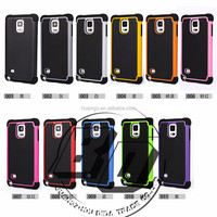 Manufacturer Wholesale hybrid shockproof football texture TPU+PC+Silicone 3 in 1 case For Samsung Galaxy Note 5 factory price