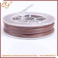 Korean Wax Cord 1.5mm 6 meter wax nylon string in roll in Brown