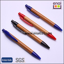 high quality wooden ballpoint pen with plastic parts and logo engraving