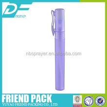 plastic new shape pen shape sprayer, pen shaped mini perfume sprayer, 6ml empty pen shape aluminum perfume sprayer