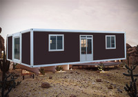 steel waterproof with construction container house wheels