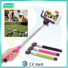 2015 Hot Sales Universal monopod extendable selfie stick bluetooth remote with best price Z07-5S cable for wholesales