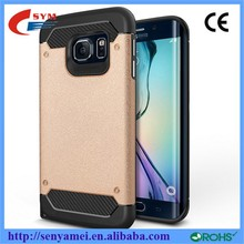 Luxury Shockproof Hard silicon+PC hybrid 2 in 1 for samsung galaxy s6 edge case