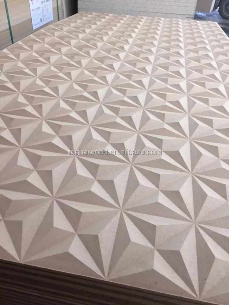 Raw mdf wave board for decorate or furniture buy