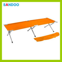 Portable high quality polyester colorful foldable lightweight camping bed