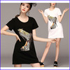 Guangzhou clothing ladies soft american apparel heavy metal t-shirts