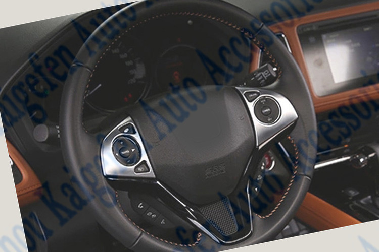 abs chrome interior accessories steering wheel decoration trim for vezel 2015 buy interior. Black Bedroom Furniture Sets. Home Design Ideas