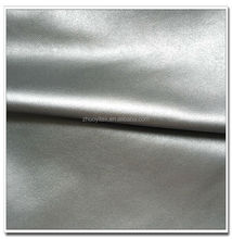 China Supplier heavy Leather Pu fabric for women clothing