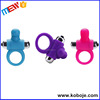 Safe silicone penis ring vibrating sex machine for male