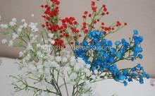 Colorful cheap artificial pu baby's breath flowers 56cmH single stem gypsophila YZT1-1799