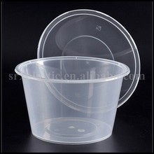1000ml disposable food grade BPA free plastic Round Square Food Container for sale/OEM Plastic take away square clear fresh box