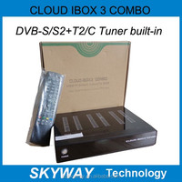2015 Cloud IBox 3 COMBO, newer than Cloud IBox 3 and Cloud IBox 2 , with HD Twin Tuner DVB-S/S2+T2/C Engima 2 Linux IPTV Box